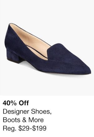 40% Off Designer Shoes, Boots & More