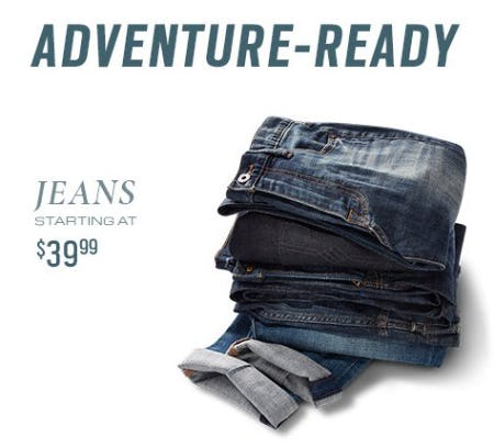 Jeans Starting at $39.99 from Men's Wearhouse