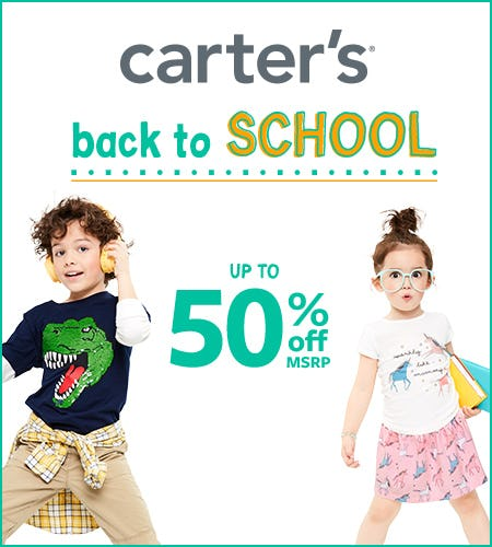 Back to School- Up to 50% Off from Carter's
