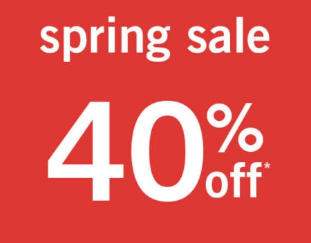 40% Off Spring Sale from abercrombie