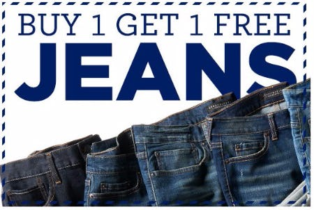 Buy 1, Get 1 Free Jeans