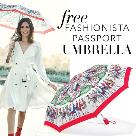 FREE Brighton Fashionista Passport Umbrella from Brighton Collectibles