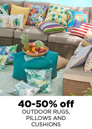 40-50% Off Outdoor Rugs, Pillows and Cushions from Kohl's