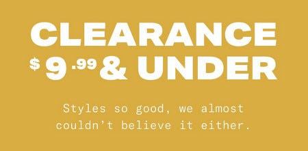 Clearance $9.99 & Under from Aéropostale