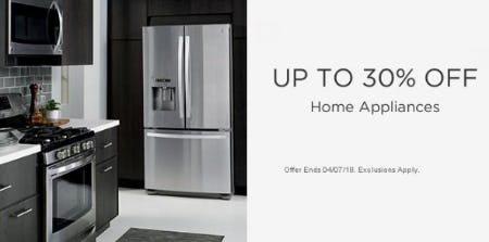 Up to 30% Off Home Appliances from Sears