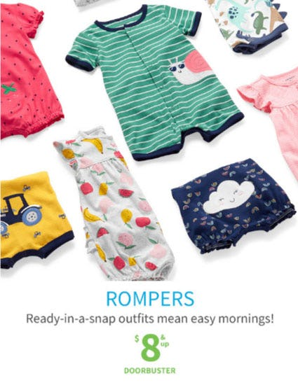 Rompers $8 & Up Doorbuster from Carter's