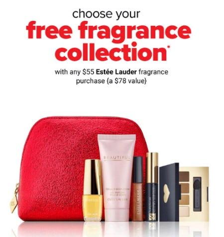 Free Fragrance Collection with Any $55 Estee Lauder Purchase
