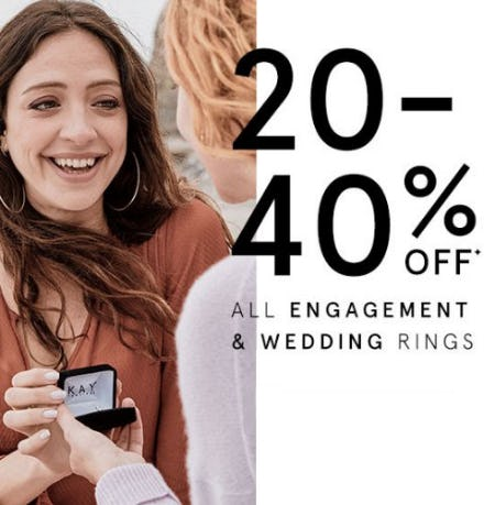 20-40% Off All Engagement & Wedding Rings from Kay Jewelers