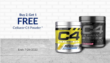 B2G1 Free Cellucor C4 Powder from The Vitamin Shoppe