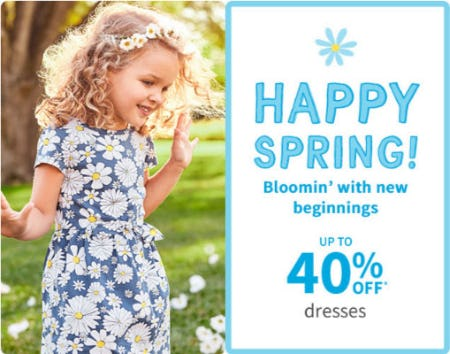 Up to 40% Off Dresses from Carter's
