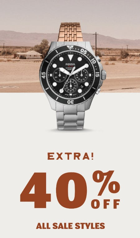 Extra 40% Off All Sale Styles from Fossil