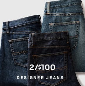 2 for $100 Designer Jeans from Men's Wearhouse