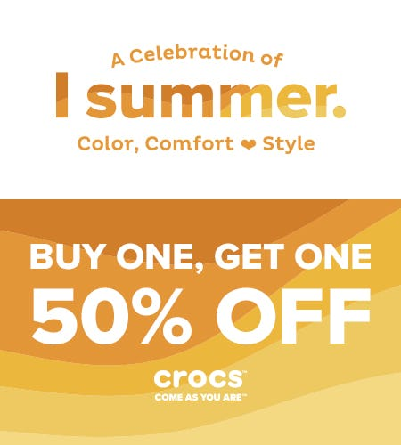 BUY ONE, GET ONE 50% OFF from Crocs