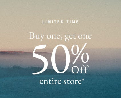 BOGO 50% Off Entire Store