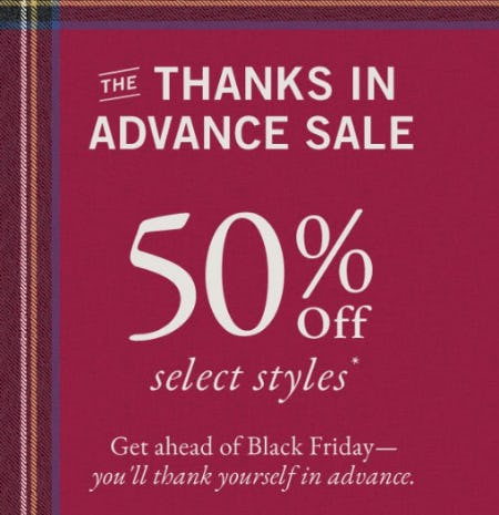50% Off Select Styles from Abercrombie & Fitch