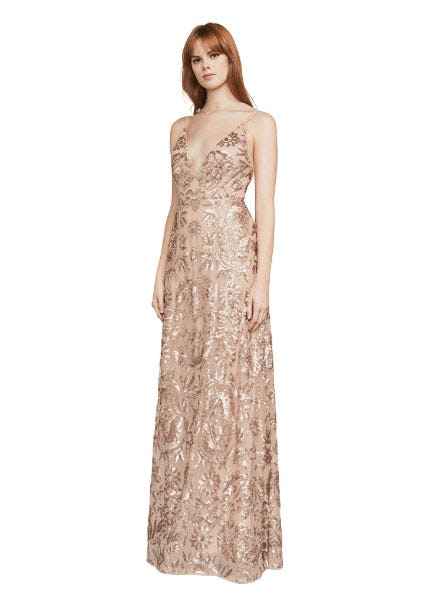 Dorthea Sequin Backless Gown