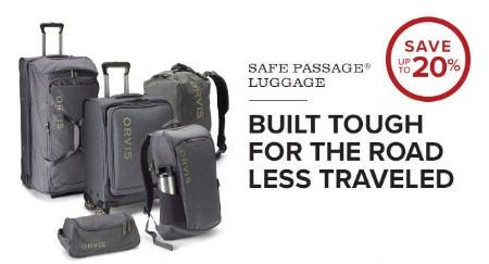 Save Up to 20% Safe Passage Luggage