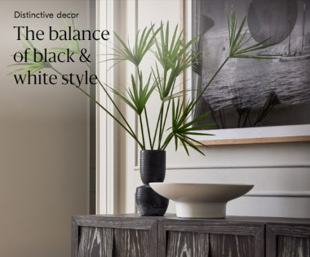 Distinctive Decor: The Balance of Black & White Style from West Elm