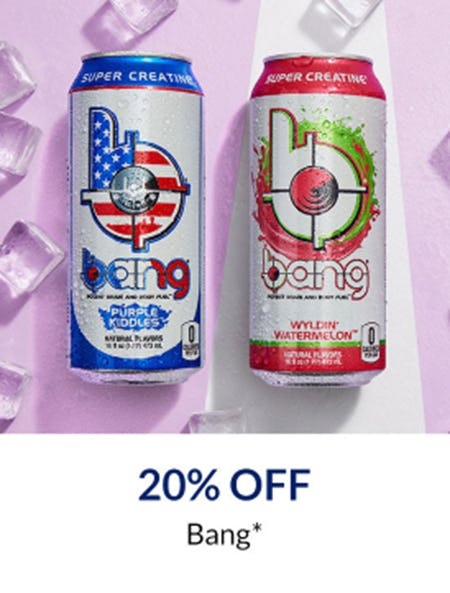 20% Off Bang from The Vitamin Shoppe