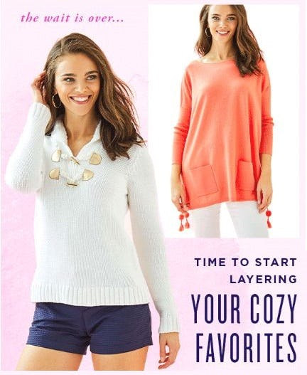 Sweater Weather Is Here from Lilly Pulitzer