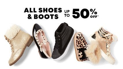 All Shoes & Boots up to 50% Off