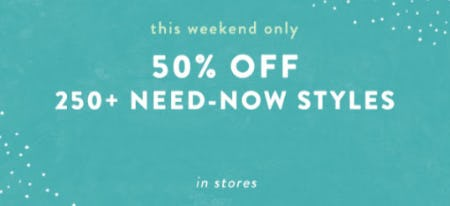 50% Off 250+ Need-Now Styles from Anthropologie