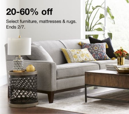 20-60% Off Select Furniture, Mattresses & Rugs from macy's
