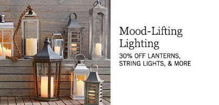 30% Off Lanterns & More from Pottery Barn