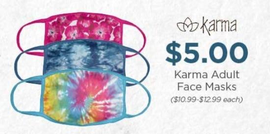 $5 Karma Adult Face Masks
