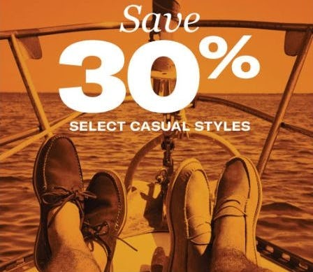 30% Off Select Casual Styles from Allen Edmonds