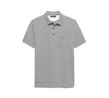 Don't-Sweat-It Stripe Polo from Banana Republic