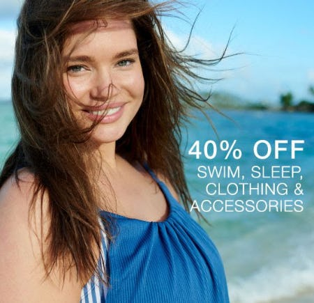 40% Off Swim, Sleep, Clothing & Accessories from Cacique