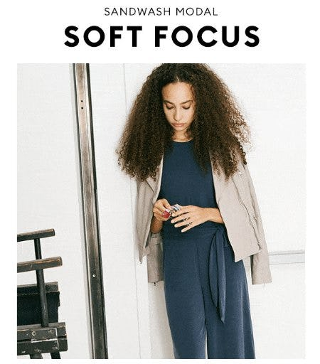 A Jumpsuit So Soft You'll Wear it All the Time from Banana Republic