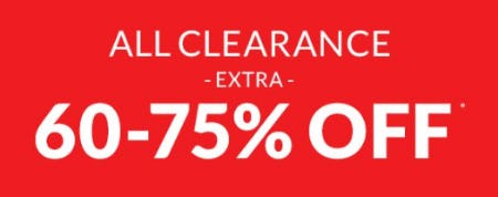 Extra 60-75% Off All Clearance