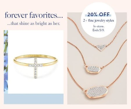 20% Off 2+ Fine Jewelry Styles from Kendra Scott