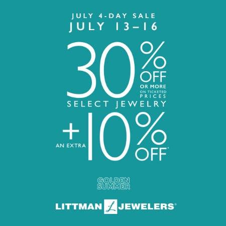 July 4 Day Sale from Littman Jewelers