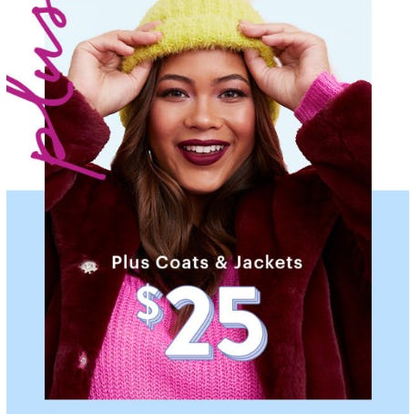 Plus Size Coats $25 from Charlotte Russe