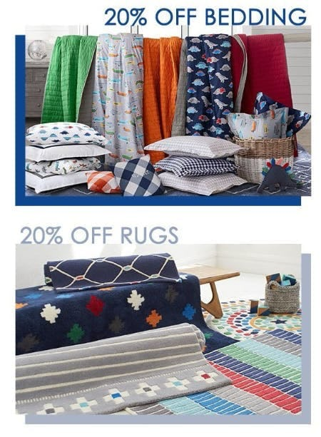 20% Off Bedding and Rugs