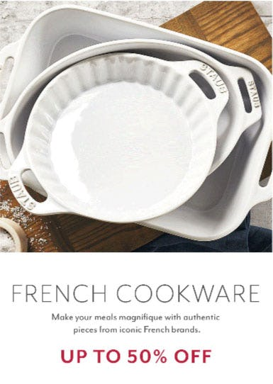 Up to 50% Off French Cookware
