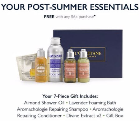 Your Post-Summer Essentials Free With Any $65 Purchase