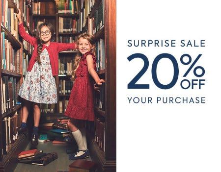 20% Off Surprise Sale