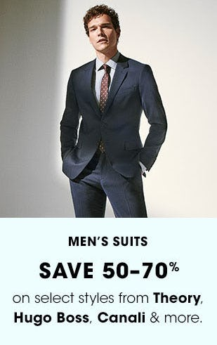 Men's Suits Save 50-70% from Bloomingdale's
