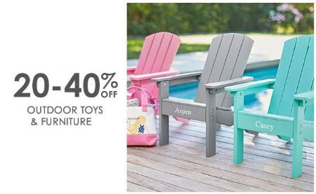 20–40% Off Outdoor Toys & Furniture from Pottery Barn Kids