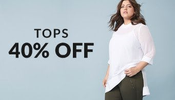 Tops 40% Off from Lane Bryant