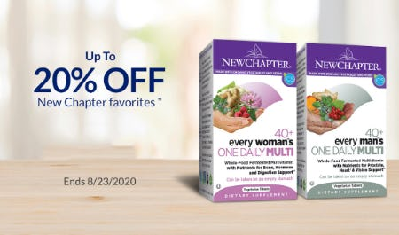 Up to 20% Off New Chapter Favorites from The Vitamin Shoppe