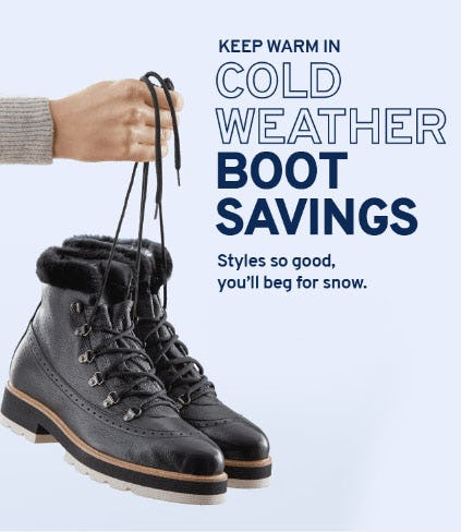 Cold Weather Boot Savings from Marshalls