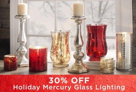 30% Off Holiday Mercury Glass Lighting