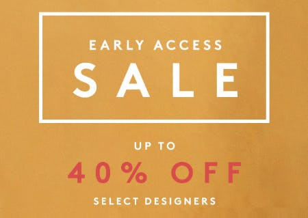 Up to 40% Off on Select Designers from Barneys New York