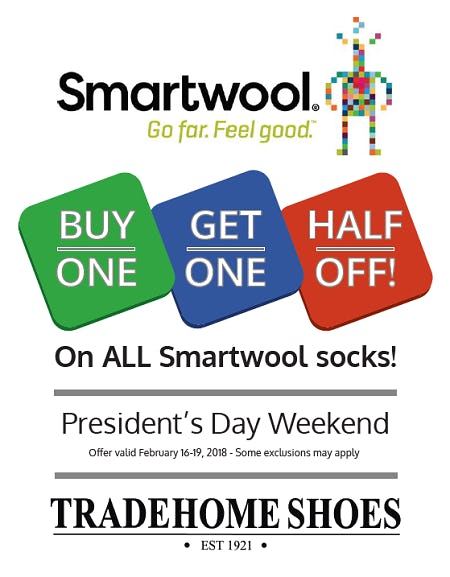 Smartwool Socks President's Weekend Sale from Tradehome Shoes