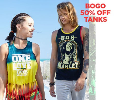 BOGO 50% Off Tanks
